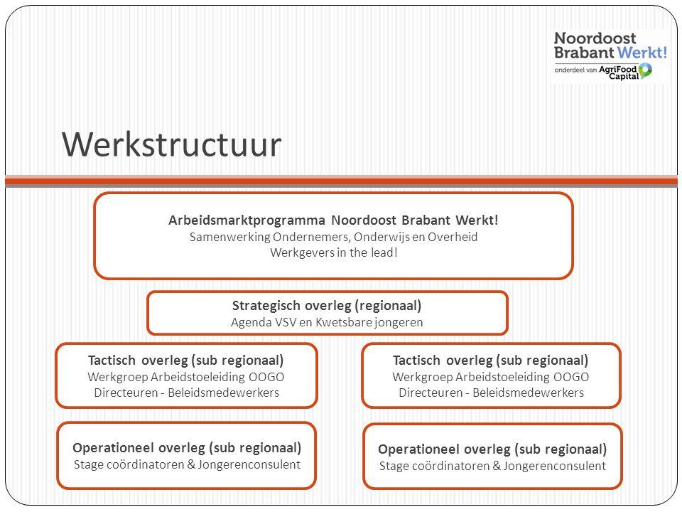 Werkstructuur Arbeidsmarktprogramma Noordoost Brabant Werkt!