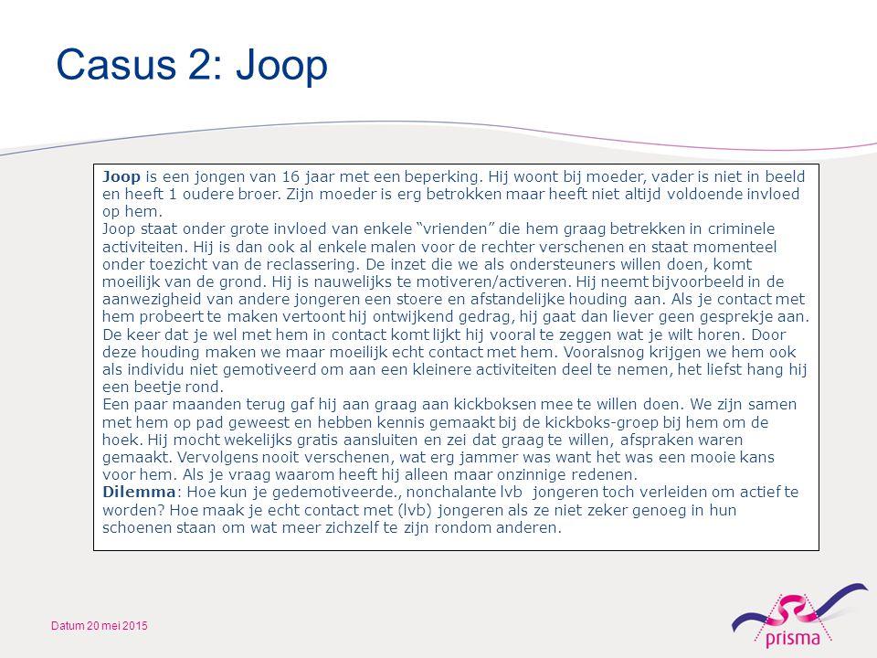 Casus 2: Joop