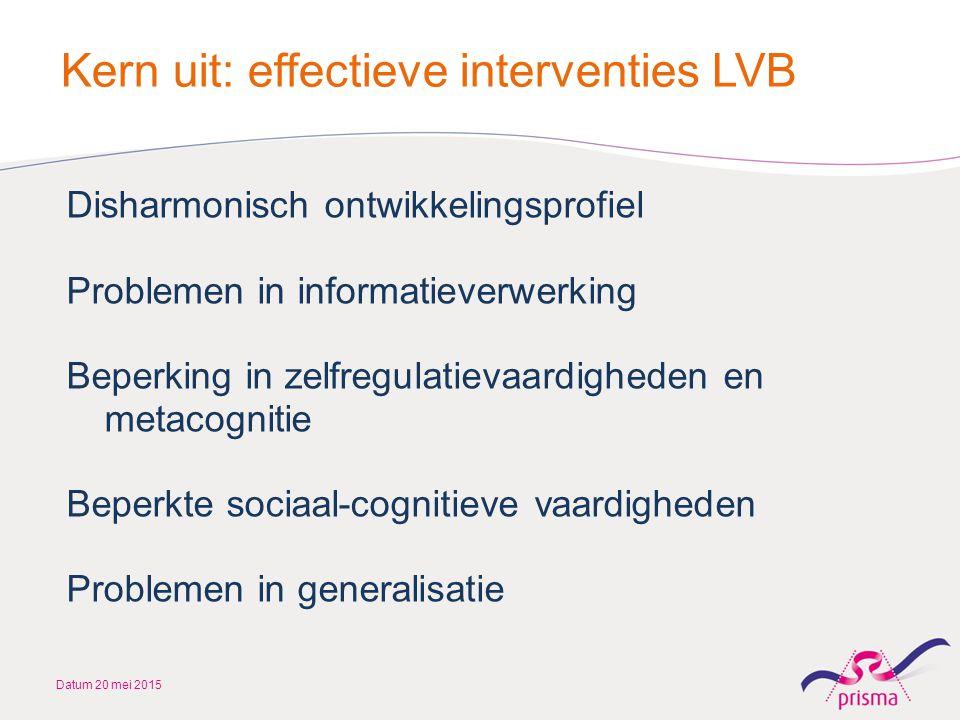 Kern uit: effectieve interventies LVB