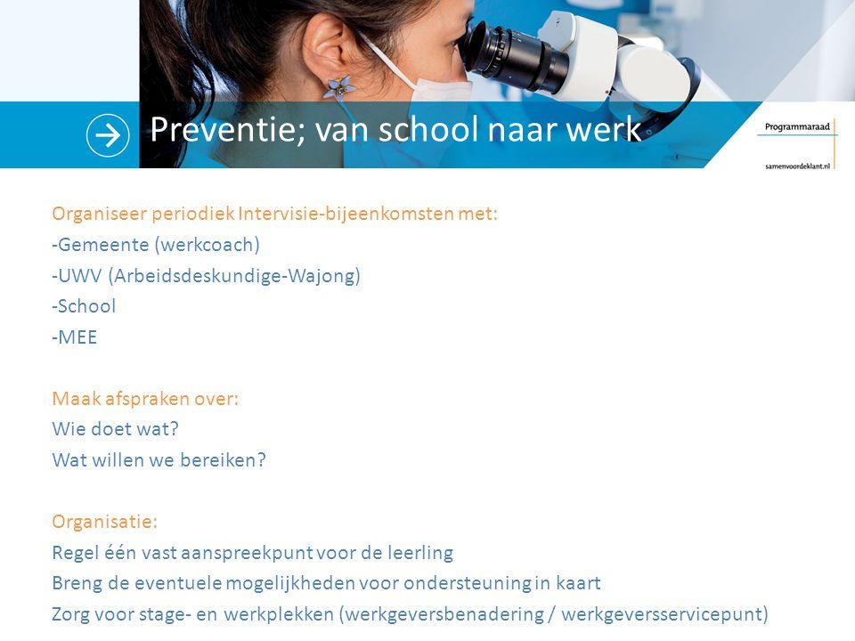 Preventie; van school naar werk