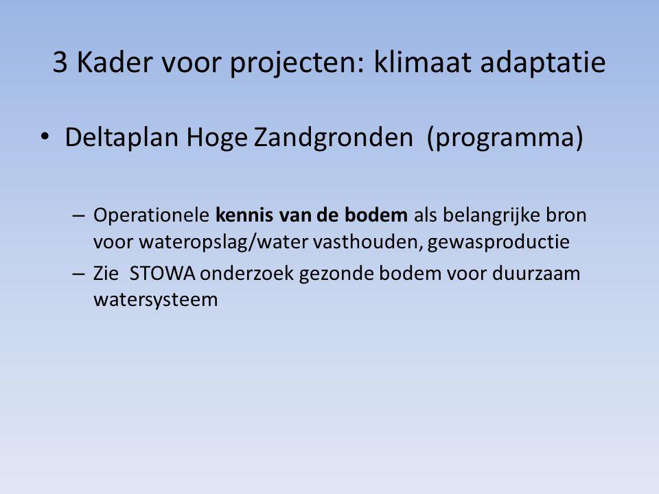 3 Kader voor projecten: klimaat adaptatie