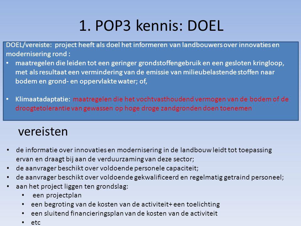 1. POP3 kennis: DOEL vereisten