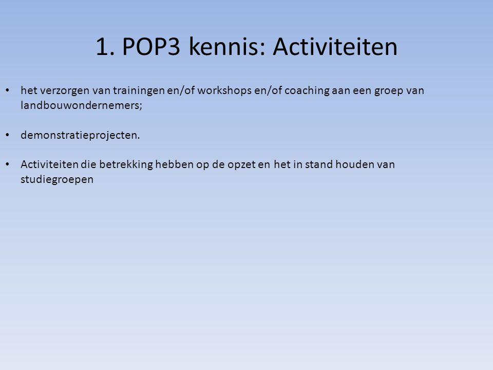 1. POP3 kennis: Activiteiten