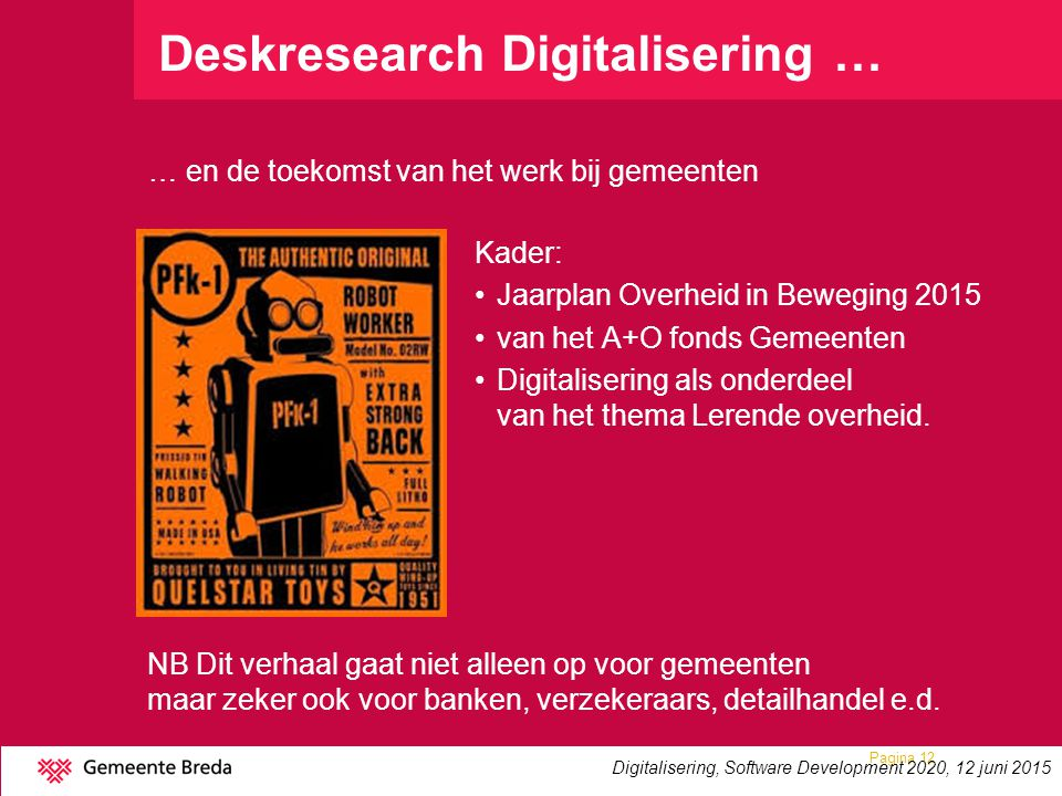 Deskresearch Digitalisering …