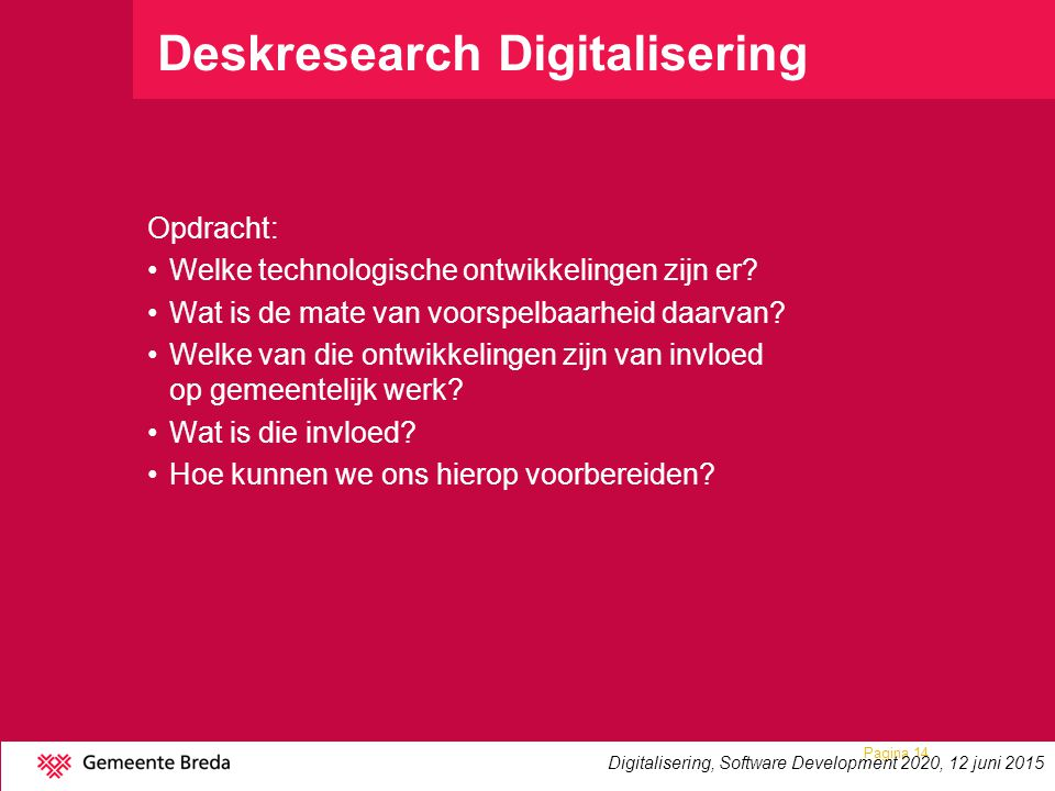 Deskresearch Digitalisering