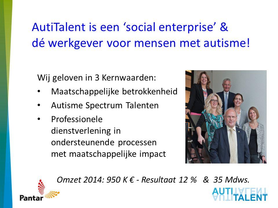 AutiTalent is een 'social enterprise' & dé werkgever voor mensen met autisme!