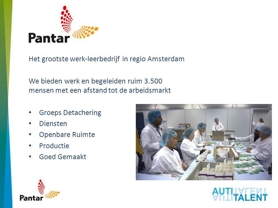 Pantar Het grootste werk-leerbedrijf in regio Amsterdam