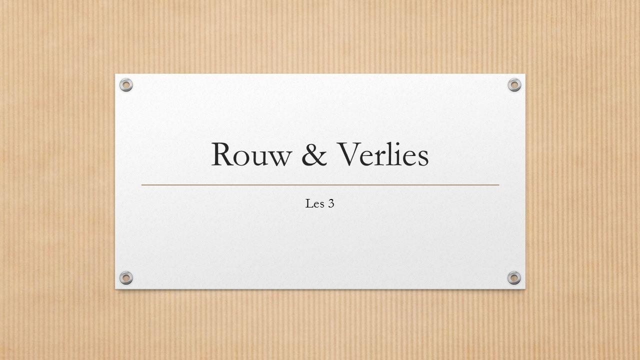 Rouw & Verlies Les 3