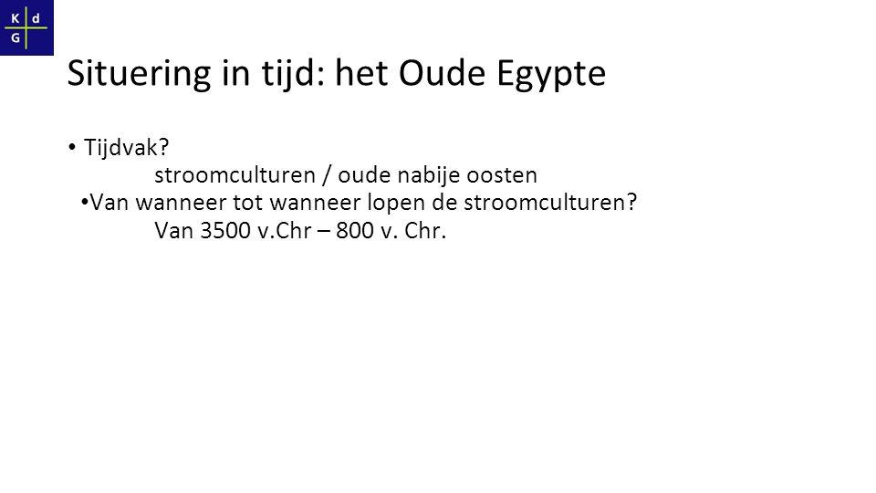 Situering in tijd: het Oude Egypte