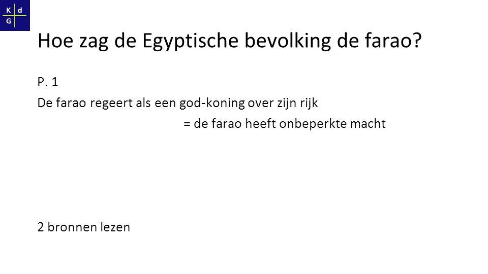 Hoe zag de Egyptische bevolking de farao