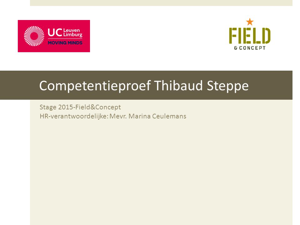 Competentieproef Thibaud Steppe