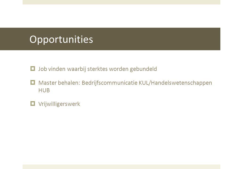Opportunities Job vinden waarbij sterktes worden gebundeld