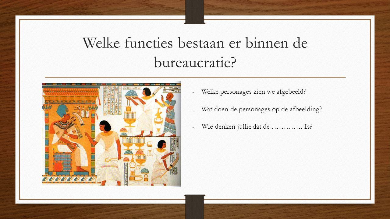Welke functies bestaan er binnen de bureaucratie