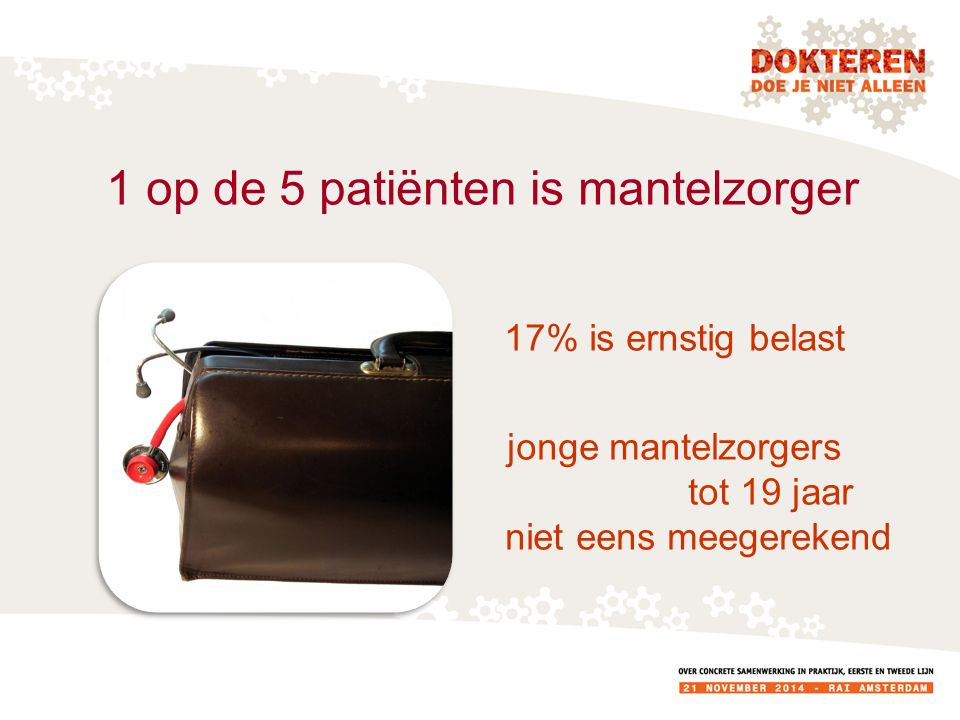 1 op de 5 patiënten is mantelzorger