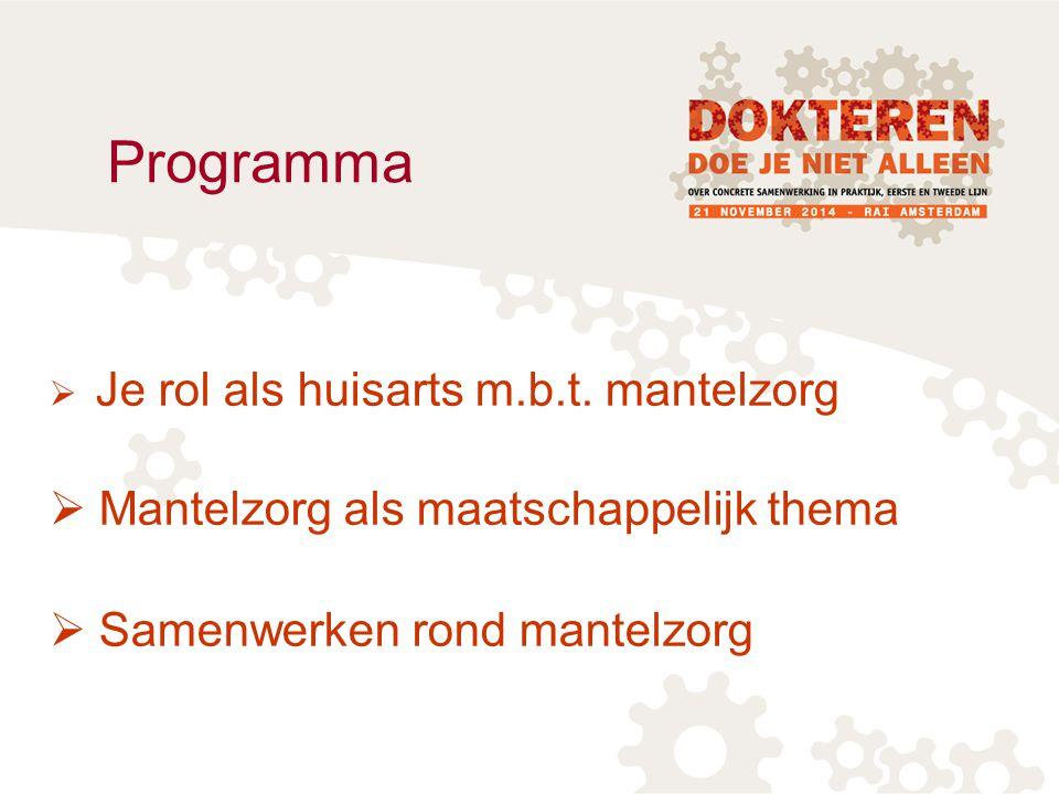 Programma Mantelzorg als maatschappelijk thema