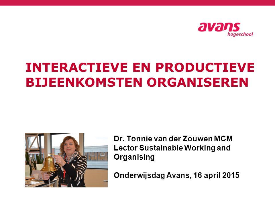 Interactieve en productieve bijeenkomsten organiseren