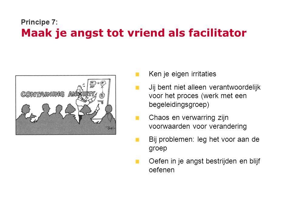 Principe 7: Maak je angst tot vriend als facilitator