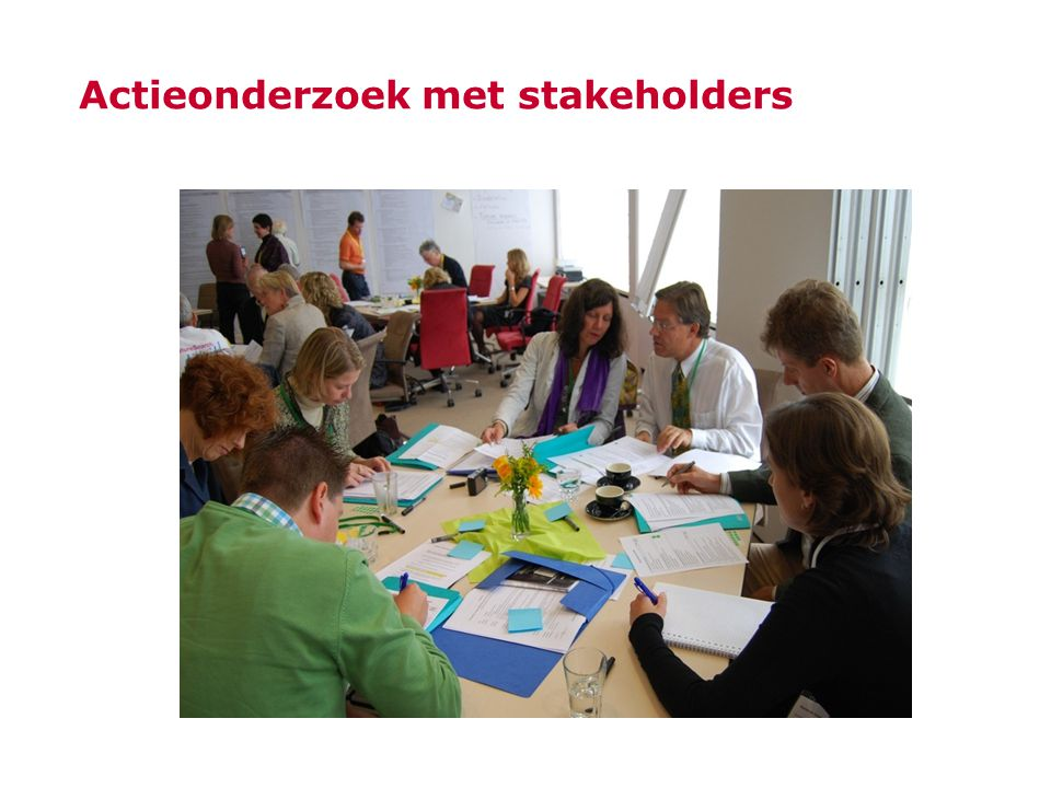 Actieonderzoek met stakeholders