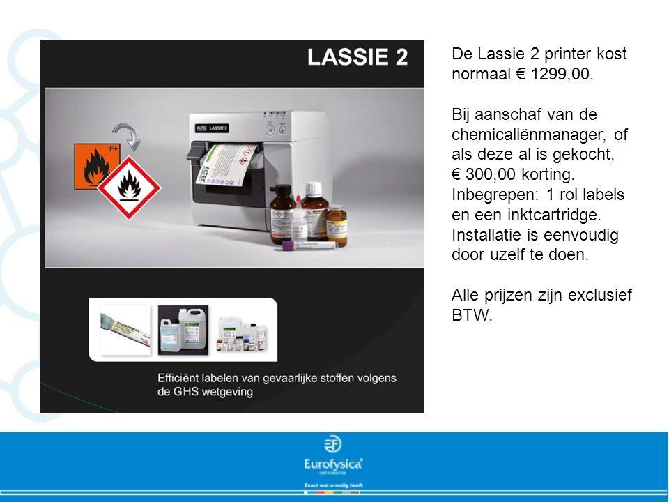 De Lassie 2 printer kost normaal € 1299,00.