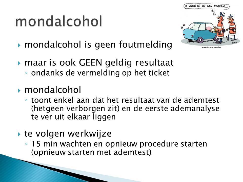 mondalcohol mondalcohol is geen foutmelding