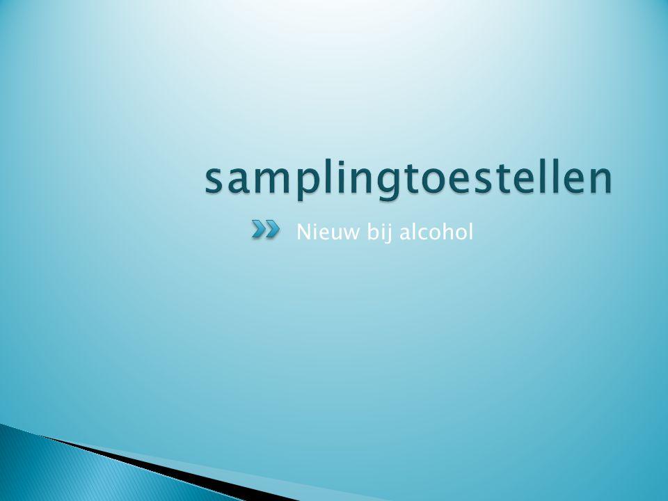 samplingtoestellen Nieuw bij alcohol