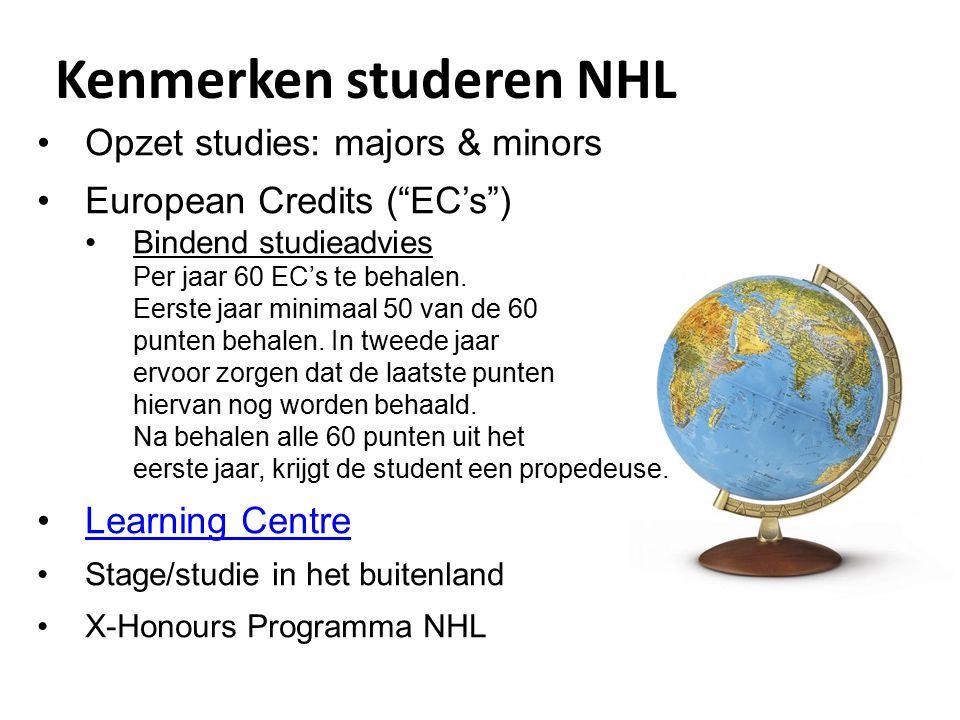 Kenmerken studeren NHL