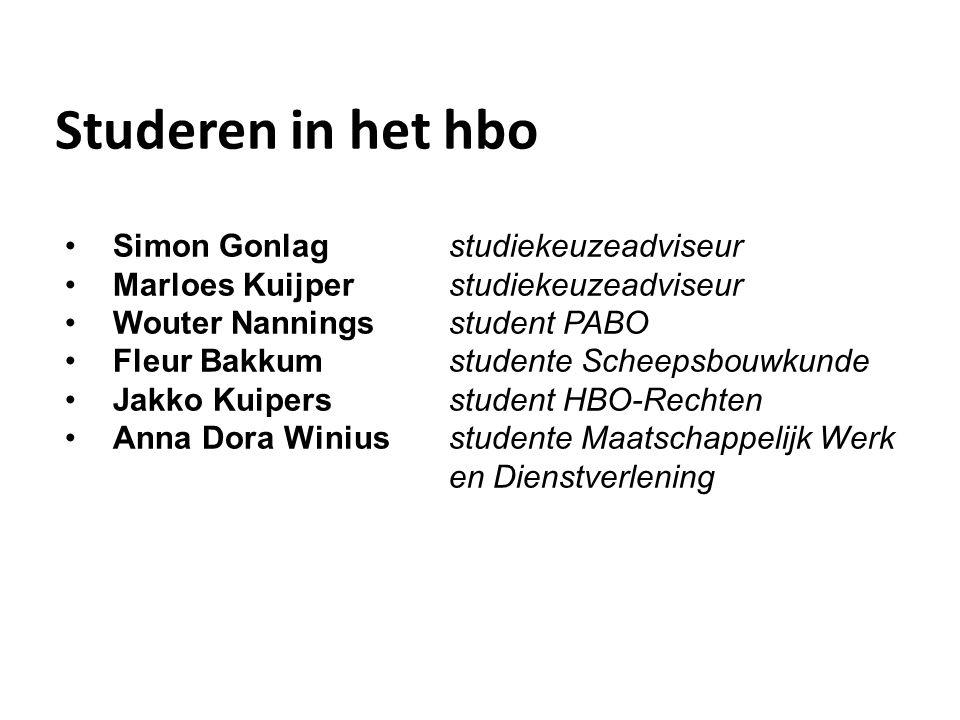 Studeren in het hbo Simon Gonlag studiekeuzeadviseur