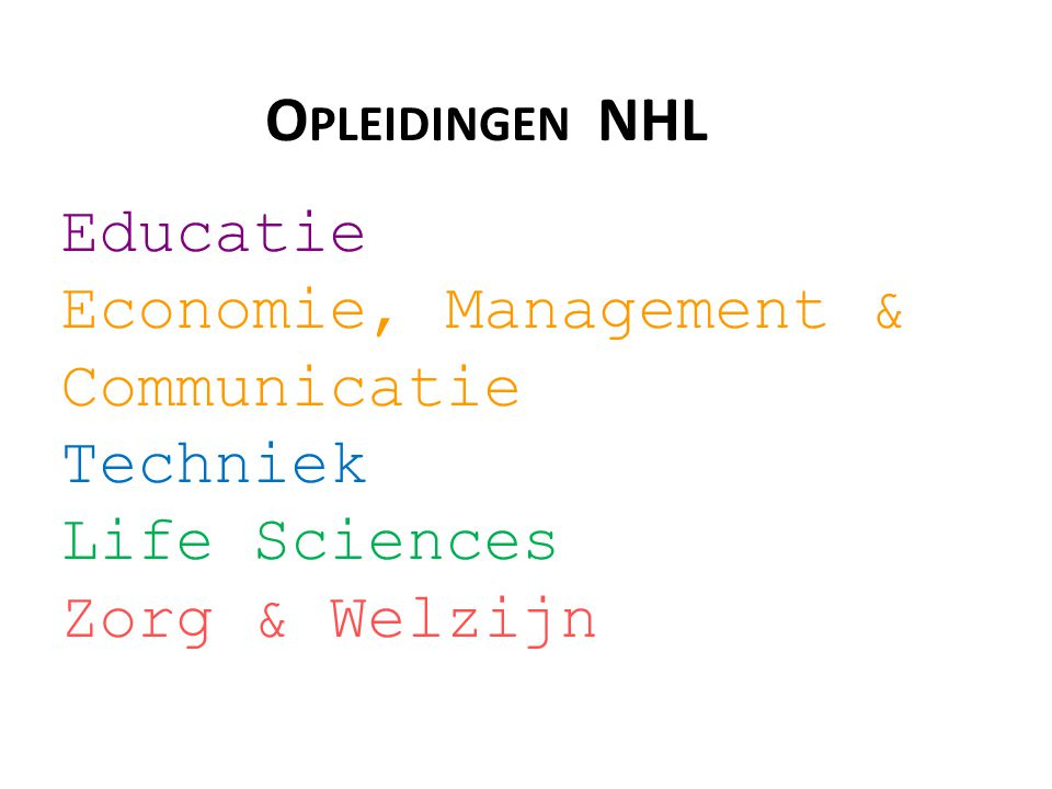 Economie, Management & Communicatie Techniek Life Sciences