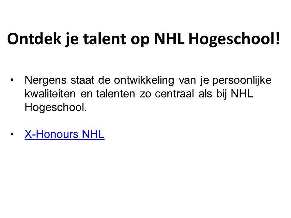 Ontdek je talent op NHL Hogeschool!