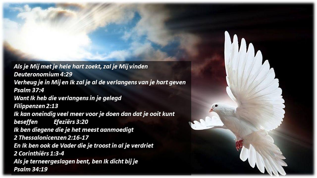 Als je Mij met je hele hart zoekt, zal je Mij vinden Deuteronomium 4:29