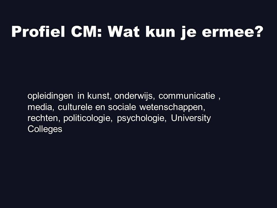 Profiel CM: Wat kun je ermee