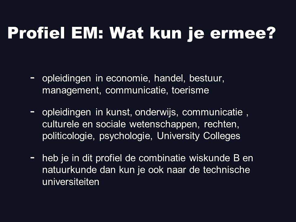 Profiel EM: Wat kun je ermee