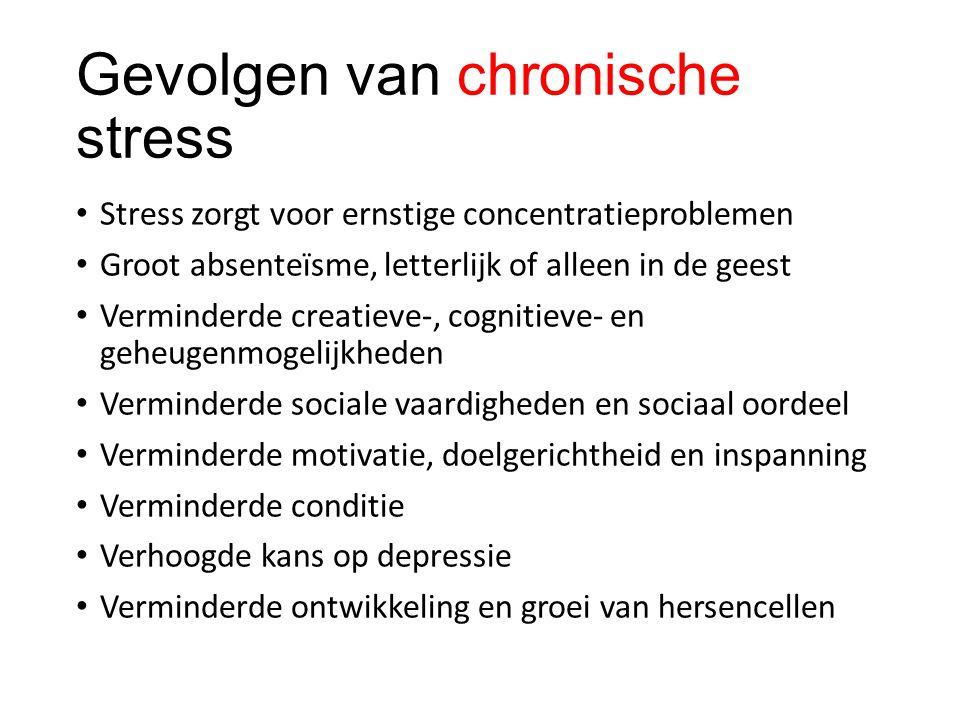 Gevolgen van chronische stress