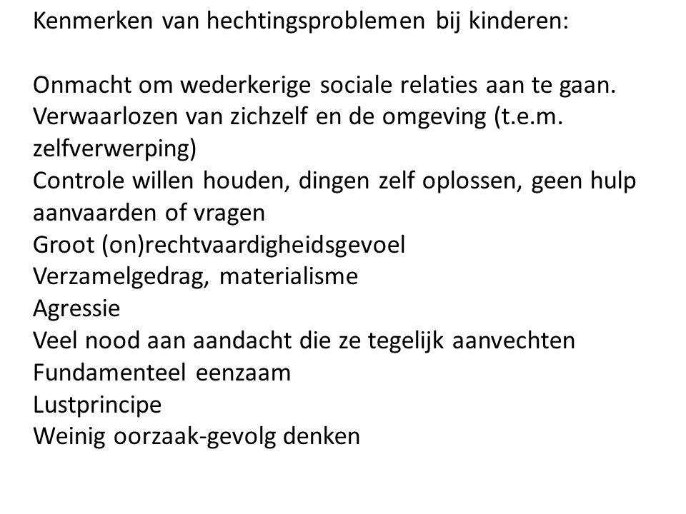 Kenmerken van hechtingsproblemen bij kinderen: