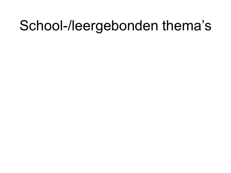 School-/leergebonden thema's