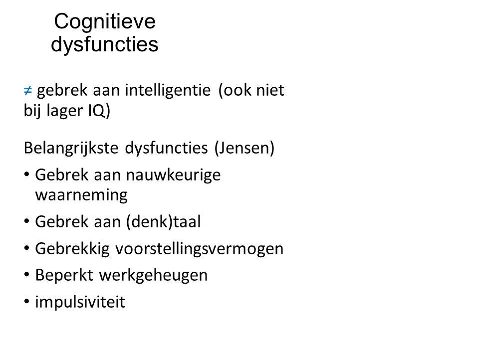 Cognitieve dysfuncties