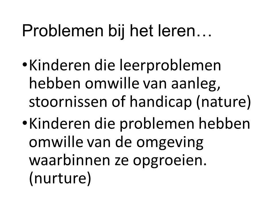 Problemen bij het leren…