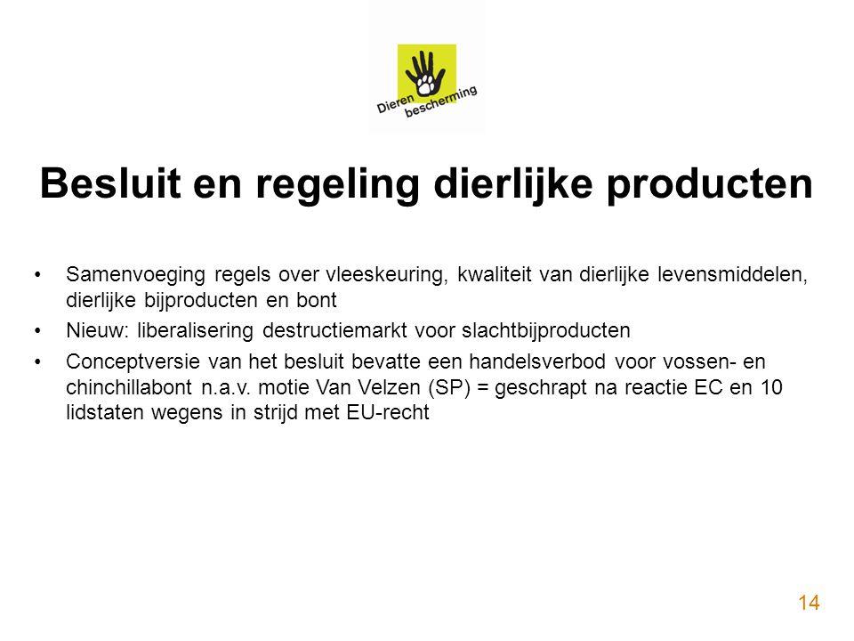 Besluit en regeling dierlijke producten
