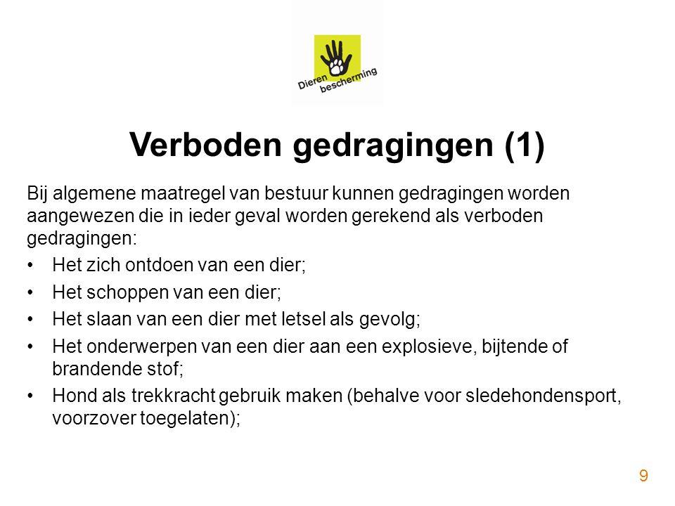 Verboden gedragingen (1)