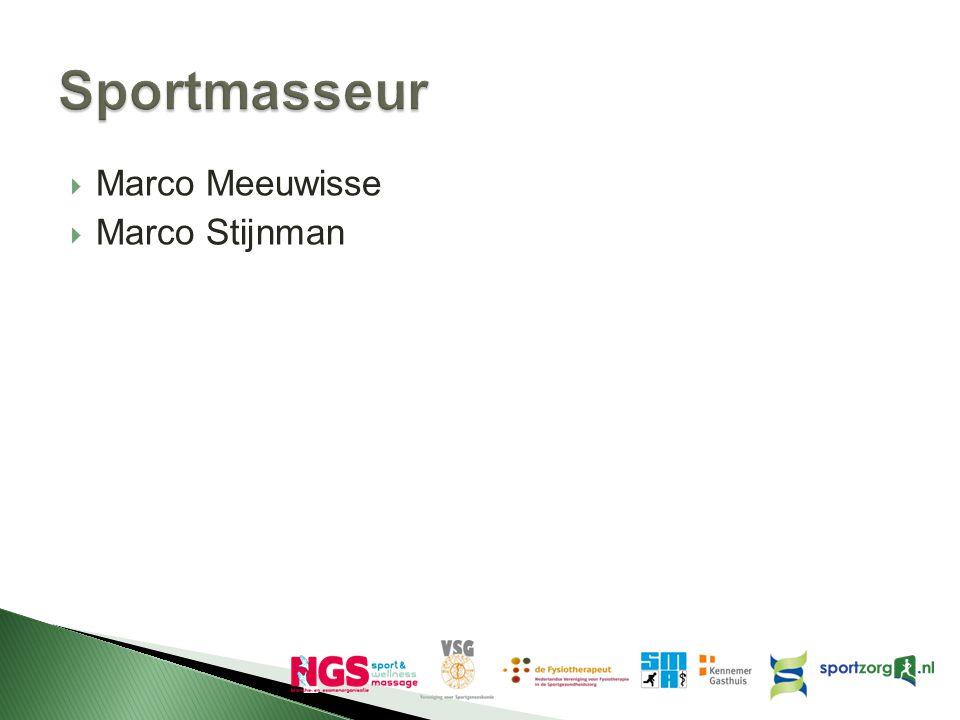Sportmasseur Marco Meeuwisse Marco Stijnman