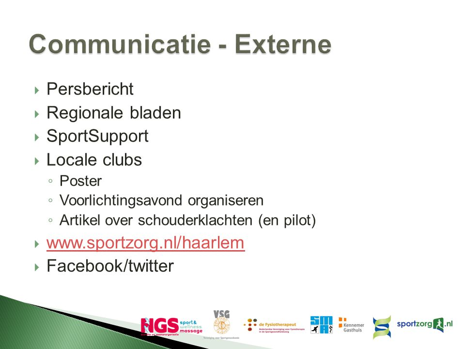 Communicatie - Externe
