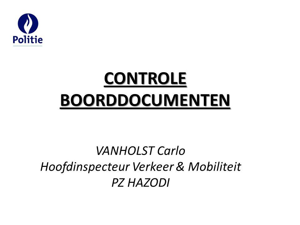 Hoofdinspecteur Verkeer & Mobiliteit