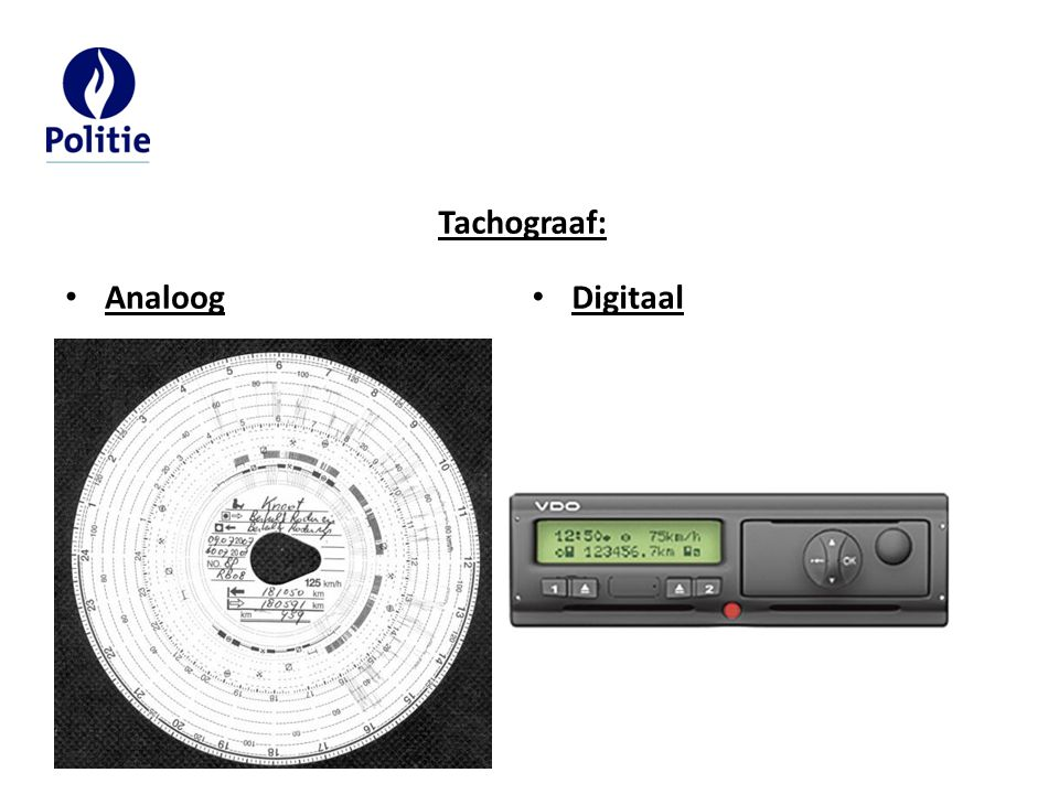 Tachograaf: Analoog Digitaal