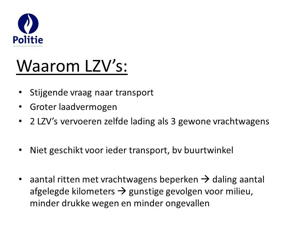 Waarom LZV's: Stijgende vraag naar transport Groter laadvermogen