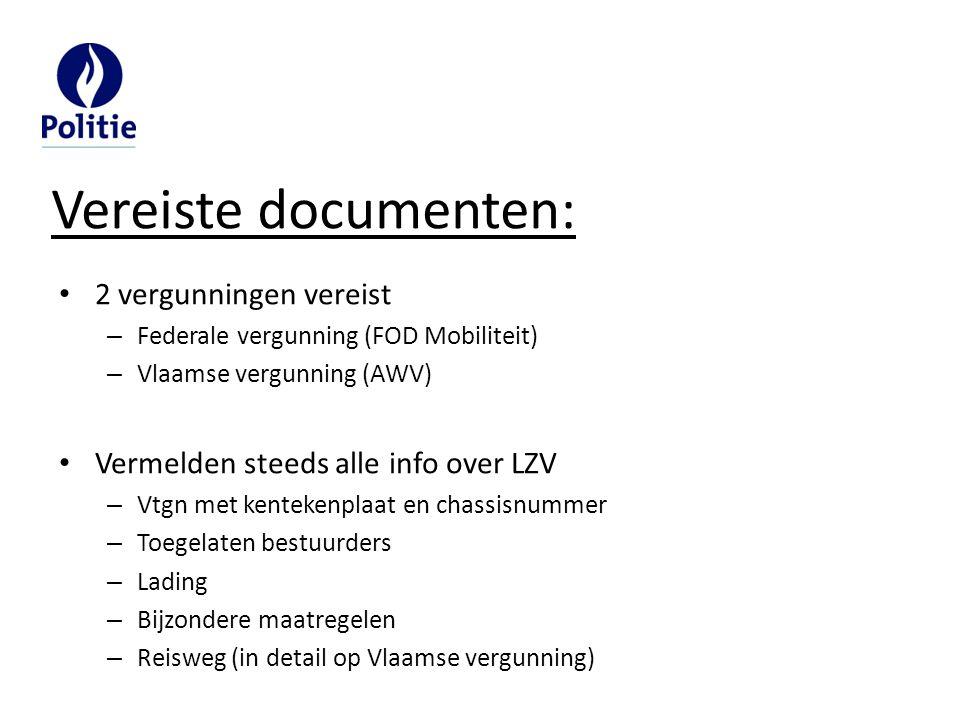 Vereiste documenten: 2 vergunningen vereist