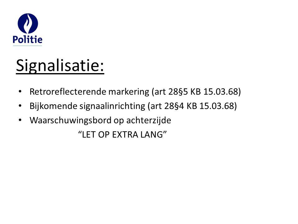 Signalisatie: Retroreflecterende markering (art 28§5 KB 15.03.68)