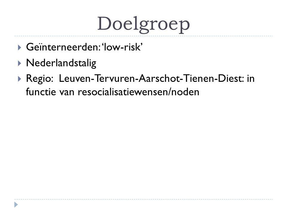 Doelgroep Geïnterneerden: 'low-risk' Nederlandstalig