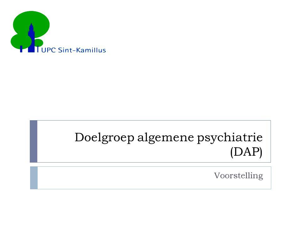 Doelgroep algemene psychiatrie (DAP)