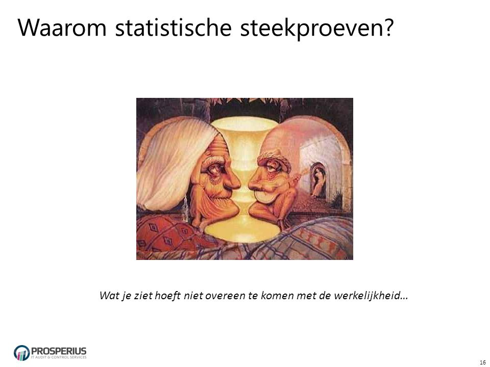 Waarom statistische steekproeven