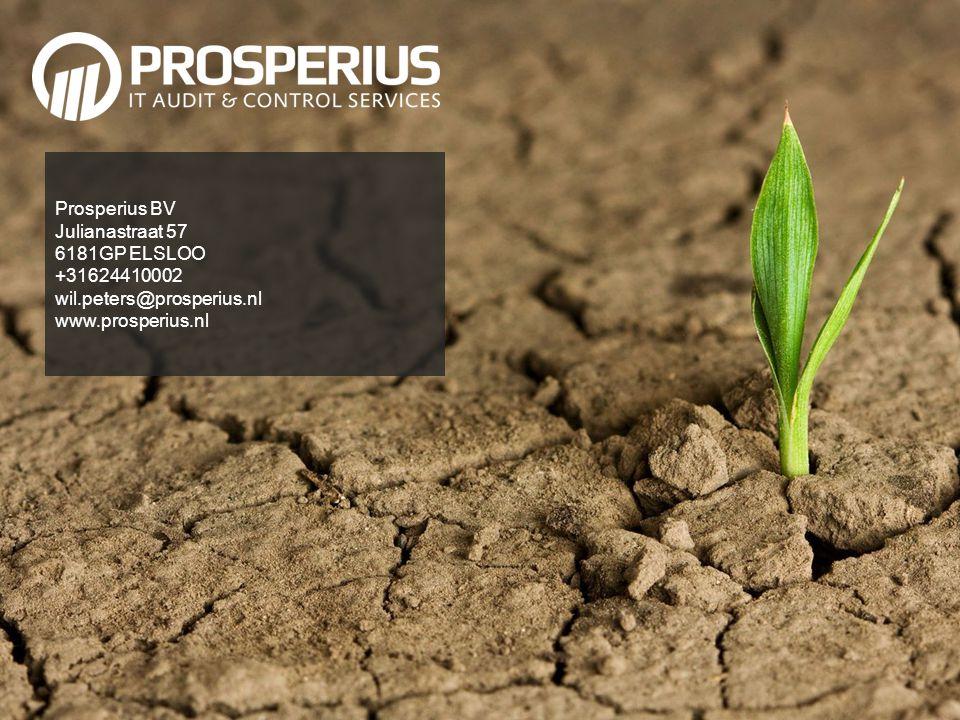 Prosperius BV Julianastraat 57. 6181GP ELSLOO. +31624410002.